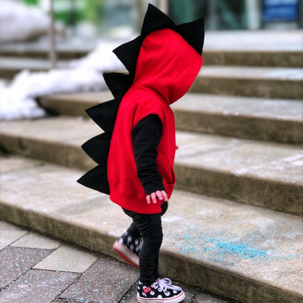 Baby Toddler Kids Red Dragon Hoodie -- Fireball - Wolfe and Scamp