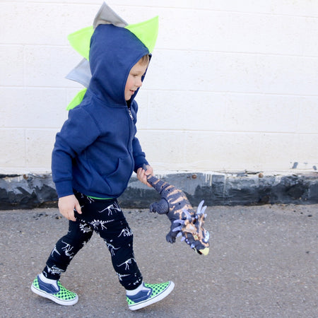 Cute Toddler Dino Hoodie - Rad Checkerboard Skateboard Motocross Dinosaur Jacket