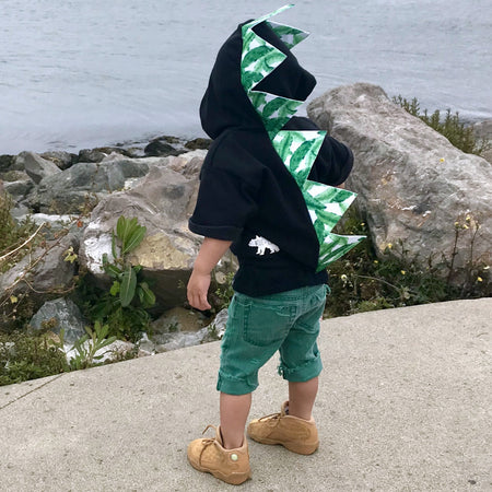 Rainbow Dinosaur Hoodie for Babies, Toddlers and Kids - Honeyskull Collab