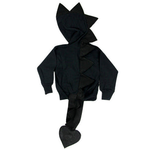 dragon-tail-spike-hoodie-black