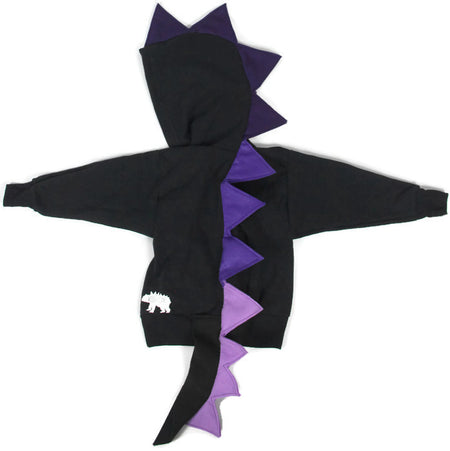 Candy Corn Halloween Dinosaur Hoodie for Babies, Toddlers and Kids - Honeyskull Collab