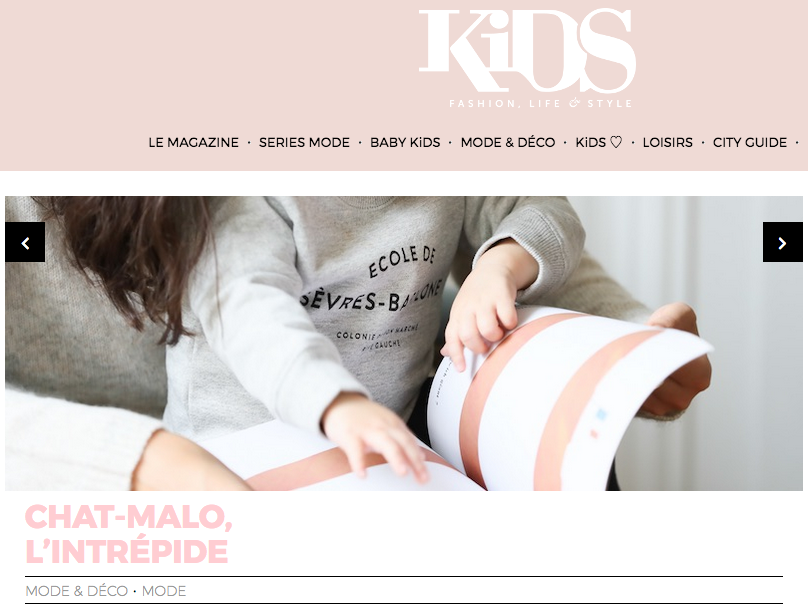 Chat-MAlo x Kids magazine - Sweat enfant Paris