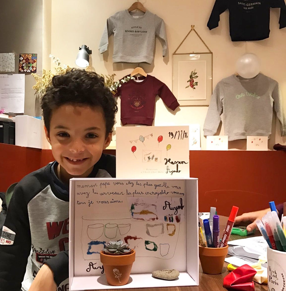 Photo sweat enfant Chat-Malo au Sept-Cinq, Le sweat enfant Ecole du Petit Coeur Paris