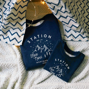 Coffret STATION NORD enfant et adulte-Chat-Malo-Chat-Malo-sweat-enfant-paris