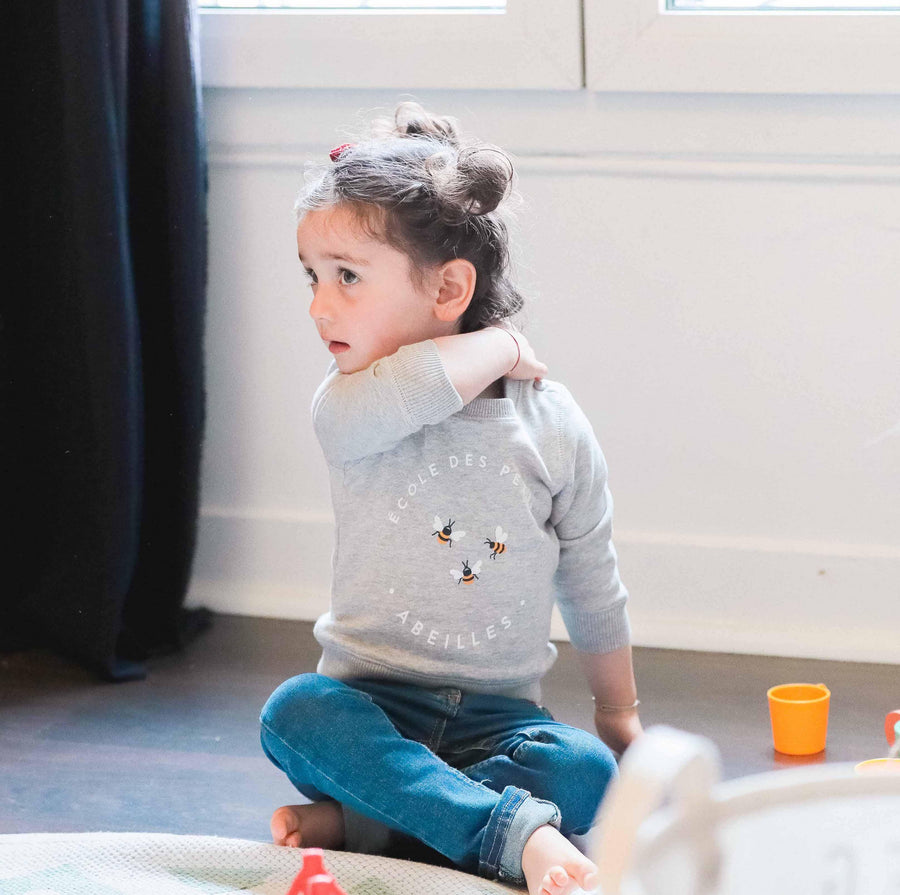 Duo Abeilles sweat enfant et tee-shirt adulte