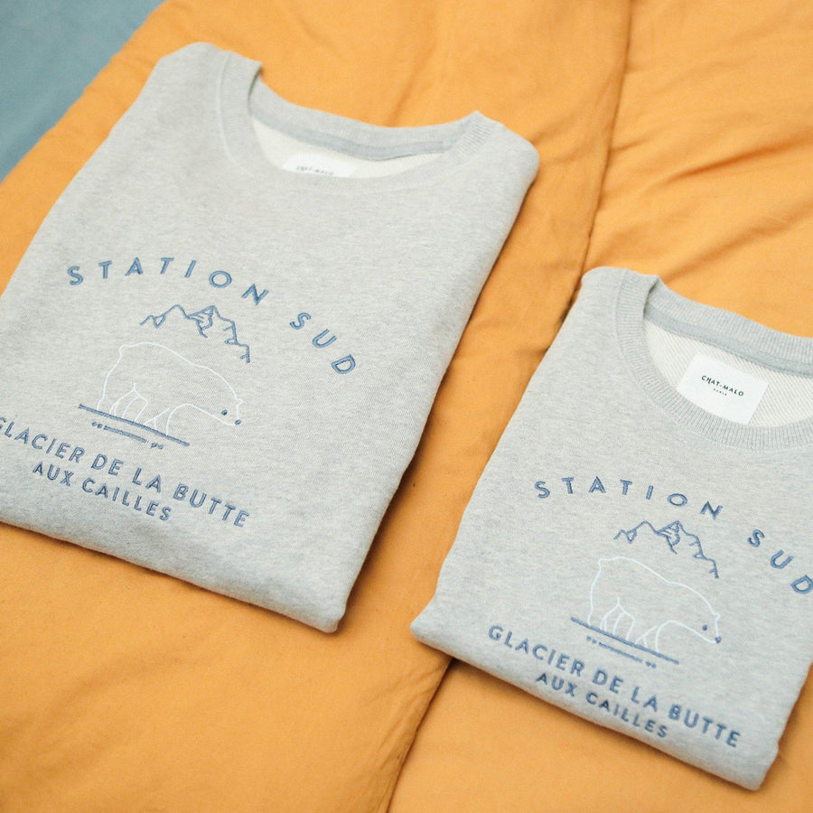 Coffret STATION SUD enfant et adulte-Chat-Malo-Chat-Malo-sweat-enfant-paris