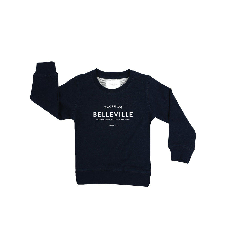Chat-Malo Paris - sweat enfant - Ecole de Belleville