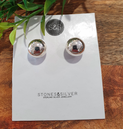Earring - Large ball stud