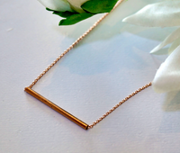 Necklace - Rose Gold Plated Bar  40cm