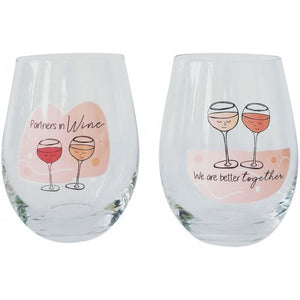 Stemless Wineglasses - We Are Better Together/Set2
