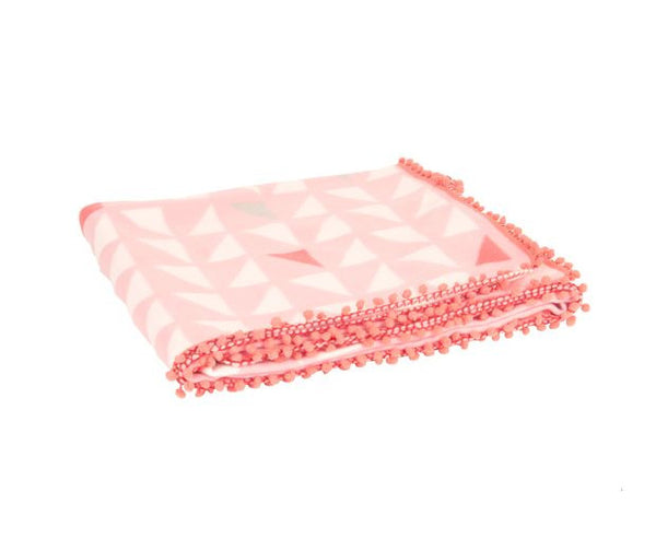 Pink Triangle Fleece Blanket