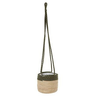 Hanging Basket - Tae Cotton / Maize - 20x20cm