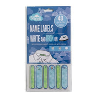 Name Labels - Write On And Iron