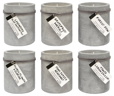 5% Scent Round Candle in Cement