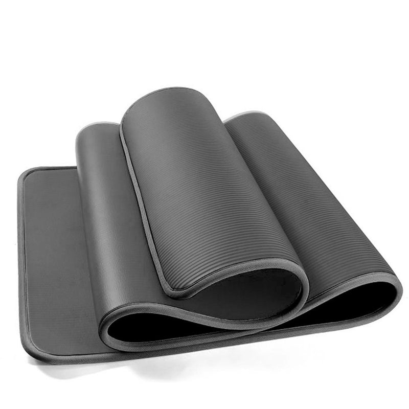 Buy TnP Accessories® 12mm NBR Trim Yoga Mats Thick Exercise Mat - Black