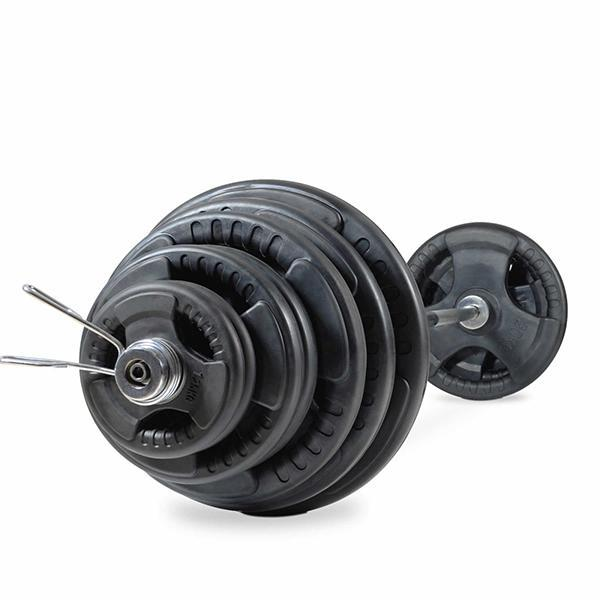 Buy 170KG Olympic Tri Grip Rubber Weight Plate Set