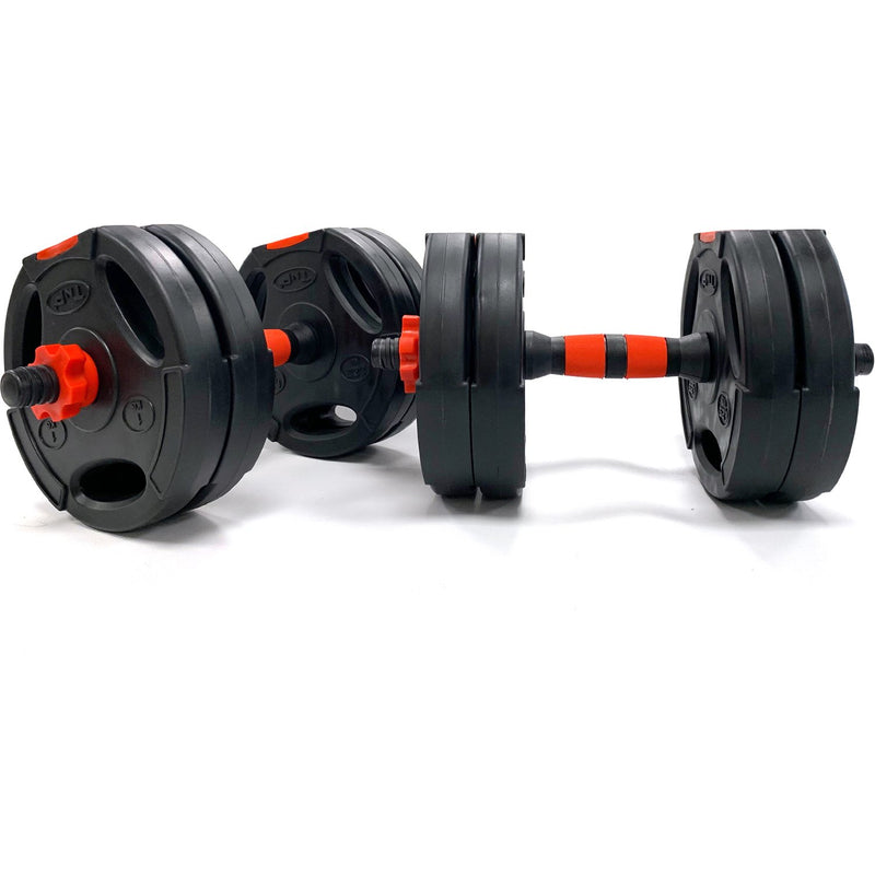 Buy TnP Accessories® Tri-Grip Dumbbell Set (Black+Red Dumbbell Bar) 10Kg