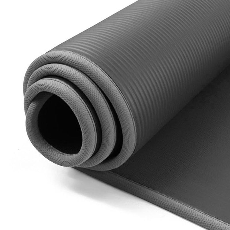 Buy 12mm NBR Trim Yoga Mats Thick Exercise Mat - Dark Grey
