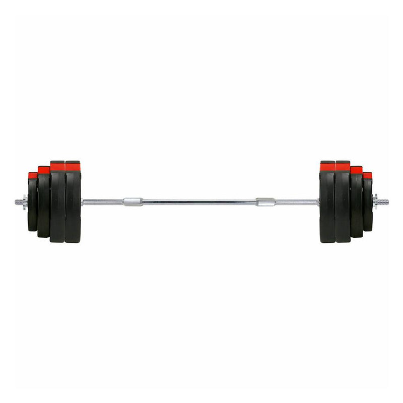 Buy TnP Accessories® 1 Inch Tri-Grip Vinyl Barbell Set Red/Black Weight Plates - 60Kg