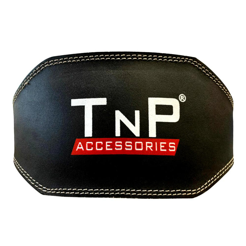 Buy TnP Accessories 6 Inch Leather Adjustable Weight Training Black Belt - XLarge