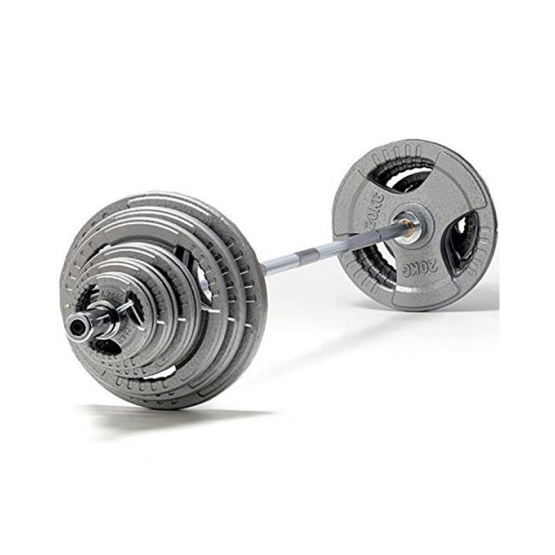 Buy TnP Accessories Tri-Grip Cast Iron Olympic Barbell Set 170Kg