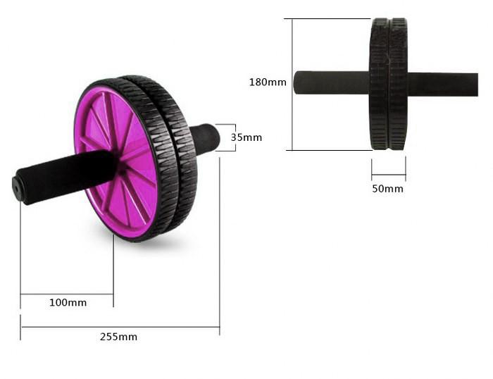Buy Ab Wheel With Foam Handle Pink