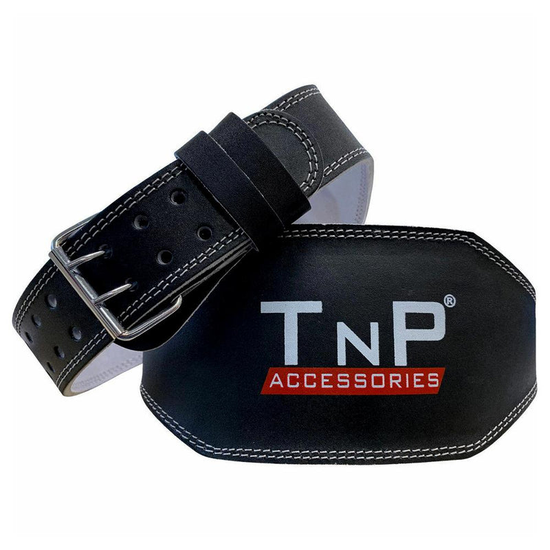 Buy TnP Accessories® 6 Inch Leather Adjustable Weight Training Black Belt - Small
