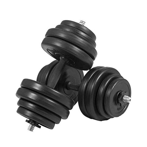 TnP Accessories 30Kg Vinyl Dumbbell Set with Black Dumbbell Bars- Black | TnP Accessories