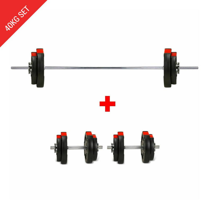 Buy Tri-Grip Barbell Dumbbell Weight Plate Set - 40Kg