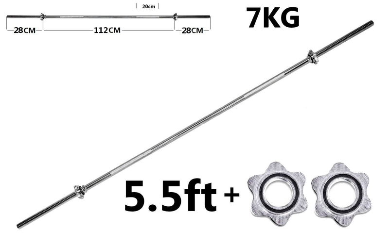 Buy TnP Accessories 1 Inch Chrome Barbell + 2 Spinlock Collars - 5.5ft