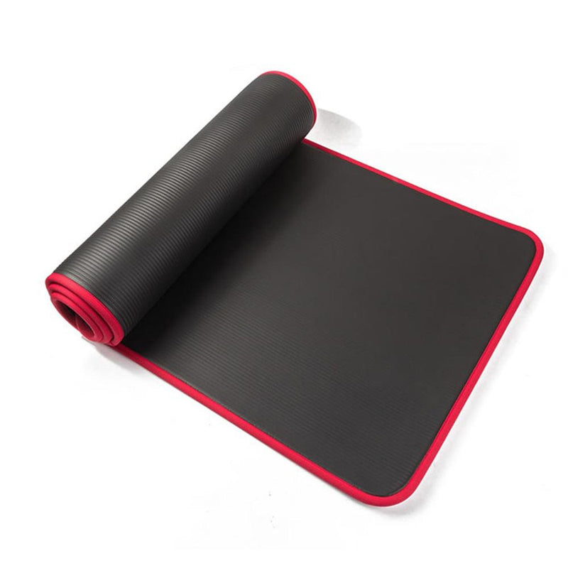 Buy TnP Accessories 12mm NBR Trim Yoga Mats Thick Exercise Mat - Red