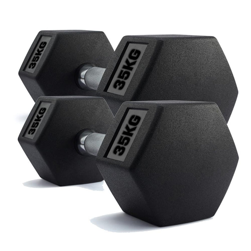 Buy TnP Accessories® Hex Dumbbells Rubber Weights Set 35Kg