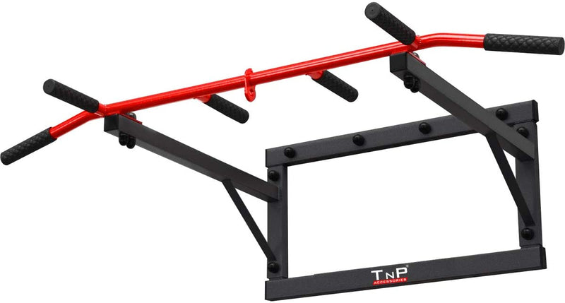 Buy Wall Mounted Iron Chin Up Bar Black/Red