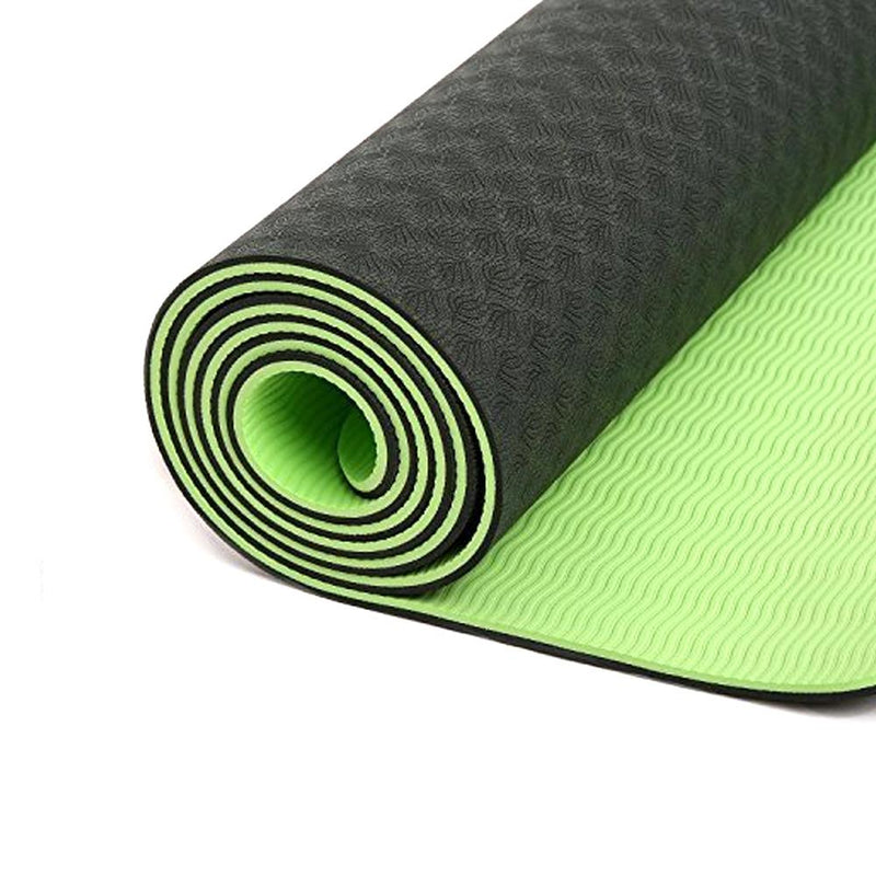 Buy 6mm Yoga Mat Non Slip TPE Exercise Mat - Light Green