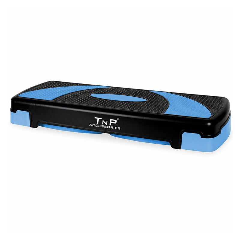 Buy TnP Accessories® Adjustable 3 Level Aerobic Fitness Stepper - 78Cm Black/Blue