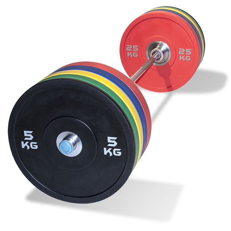 Buy Olympic Barbell & Rubber Bumper Weight Set 120kg