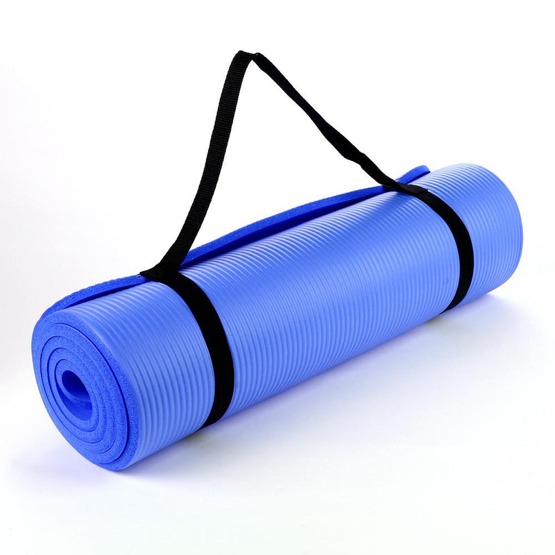 Buy TnP Accessories NBR Foam Yoga Mat 15mm Thick - Dark Blue