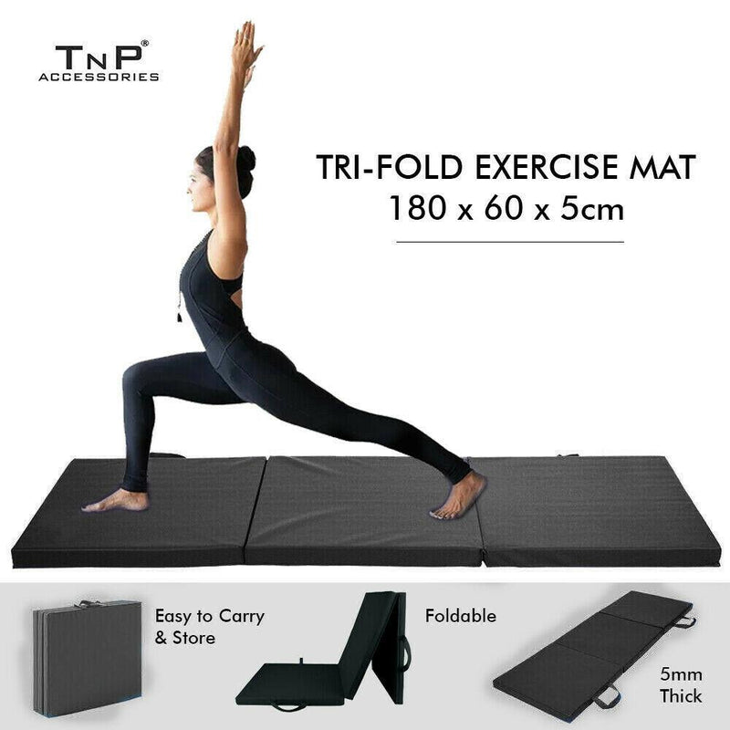 Buy TnP Accessories® Tri Fold Exercise Mat Carry Handles 5cm Black