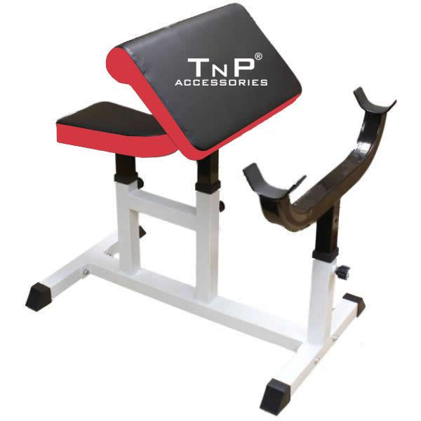 Buy TnP Accessories Preacher Curl Bench Red/Black XQCB -02