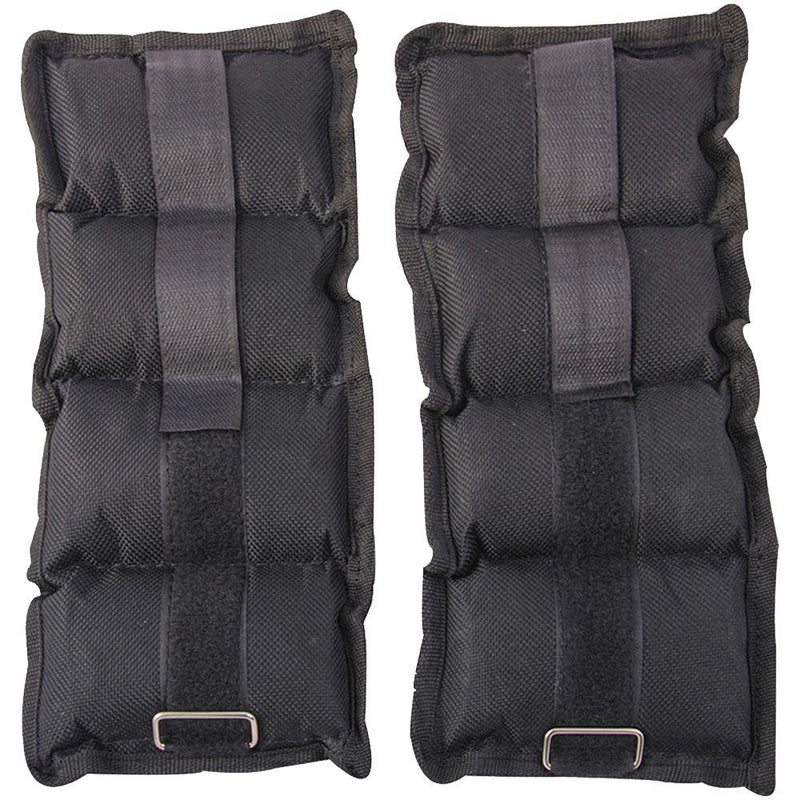 Buy Ankle Wrist Weight Straps Adjustable Black / Grey 2 x 5Kg
