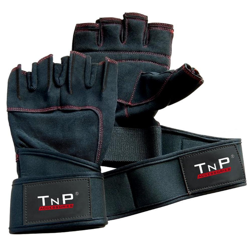Buy TnP Accessories Leather Gloves with Wrist Wraps HFG-147.4A - XLarge