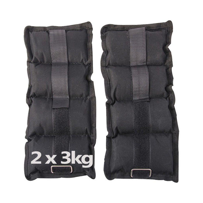 Buy Ankle Wrist Weight Straps Adjustable Black / Grey 2 x 3Kg