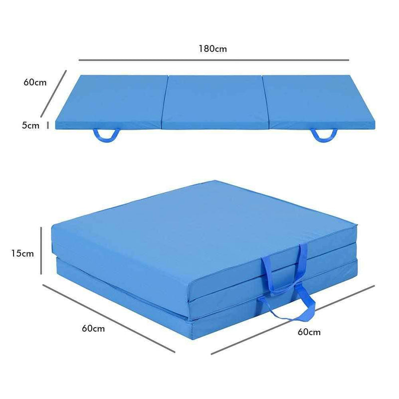 Buy Tri-Fold Exercise Mat 5cm Thick - Blue