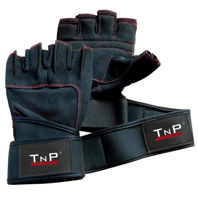 Buy Leather Gloves with Wrist Wraps HFG-147.4A- Large