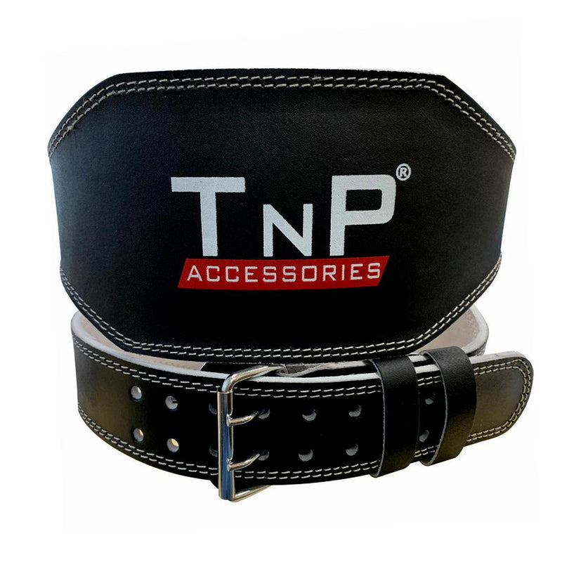 Buy TnP Accessories 6 Inch Leather Adjustable Weight Training Black Belt - Small