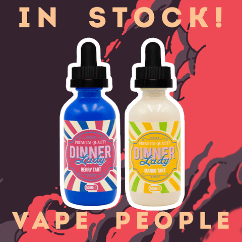 Berry Tart and Mango Tart e-liquids in 50ml shortfills are in stock!