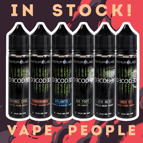 Decoded 50ml vape liquid shortfills are in stock!