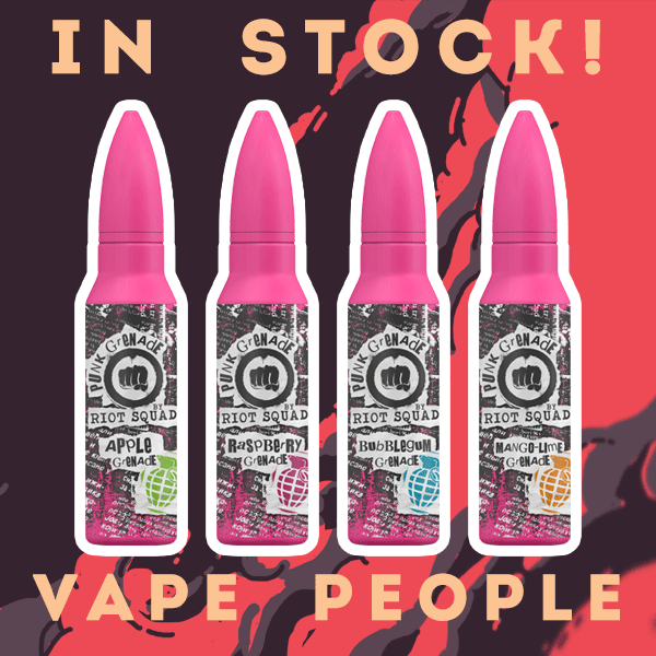 UK Punk Grenade 50ml vape liquid shortfills have landed!