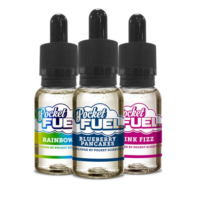 Pocket Fuel and Pure Evil e-liquids are back in stock!