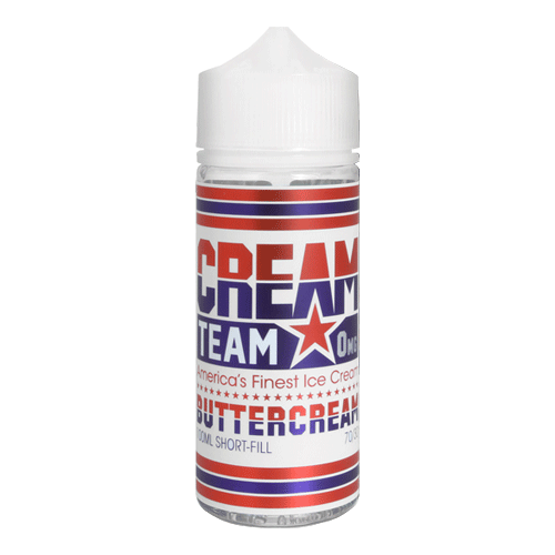 Cream Team - (0mg, 1.5mg, 3mg, 6mg) - 70%VG, 100ml Shortfill